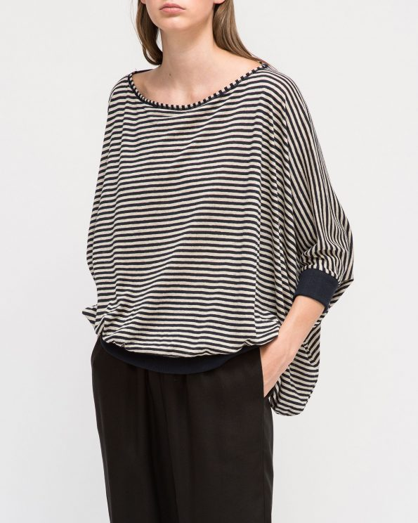 Striped Linen Jersey Top