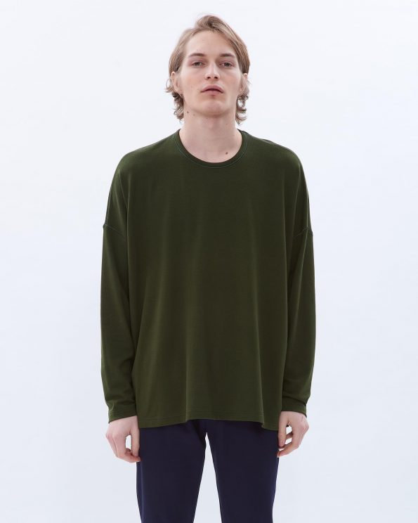 Oversized cotton/modal top