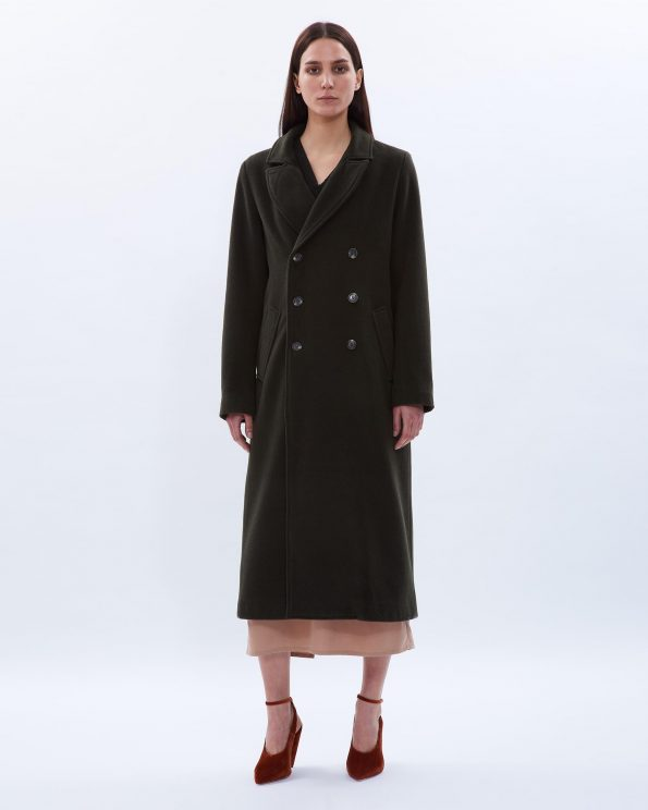 Calf-length Wool Coat