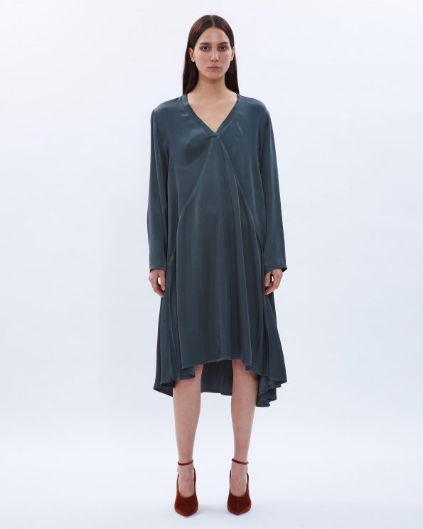 Asymmetrical Satin Dress