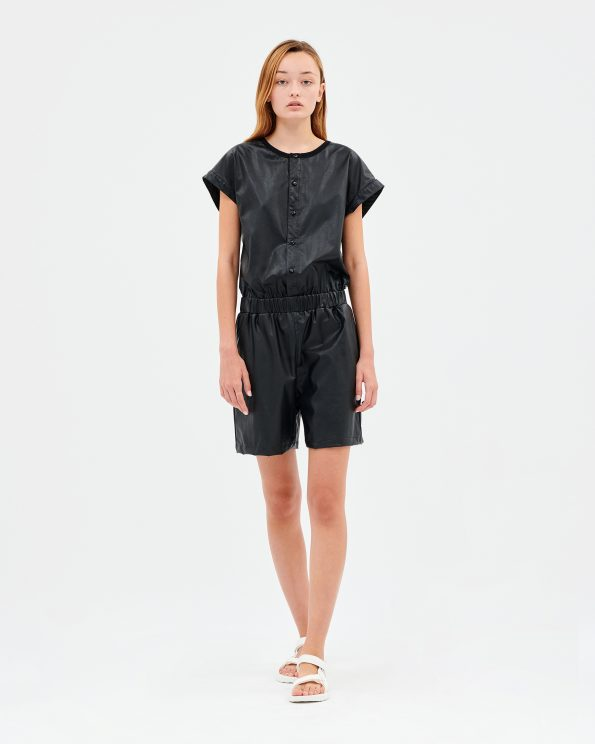 Leatherette Jumpsuit